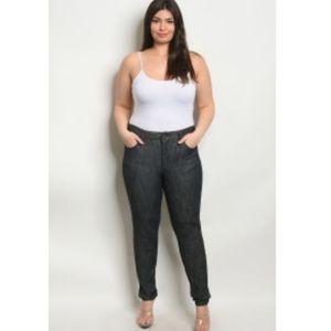 Plus Size Dark Wash Skinny Stretch Jeans